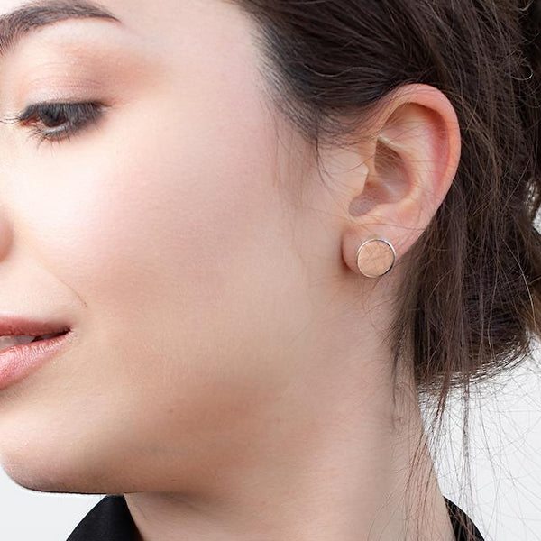 Stud statement silver earrings - Ayu House