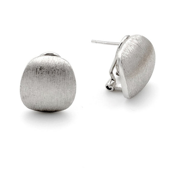 Matte elegance silver stud earrings - Ayu House