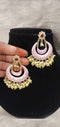 Splendid Flamingo Pink Meenakari & Pearl Earrings