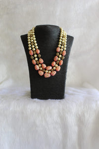 Multi-faceted Pink Pearl Necklace
