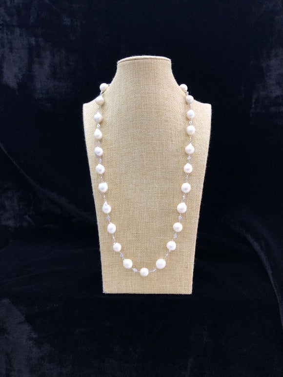 Tear Drop Baroquer Pearl Neckalce-FASHION KIDA-Fashion Kida