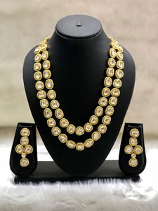 Enamel Kundan Gold Necklace Set-FASHION KIDA-Fashion Kida