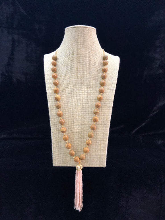 Long Gemstone Decorative Tassel Necklace-Fashion Kida