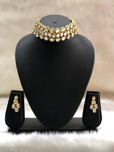 Kundan Gold Plated Choker Necklace-Fashion Kida