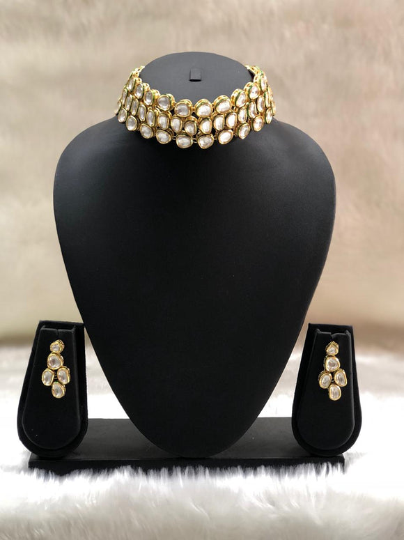 Kundan Gold Plated Choker Necklace-FASHION KIDA-Fashion Kida