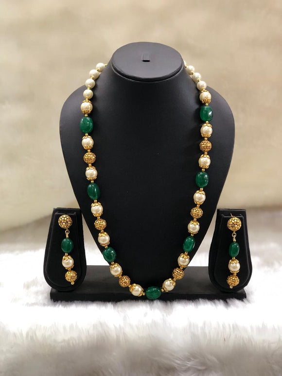 Single Green Necklace Set