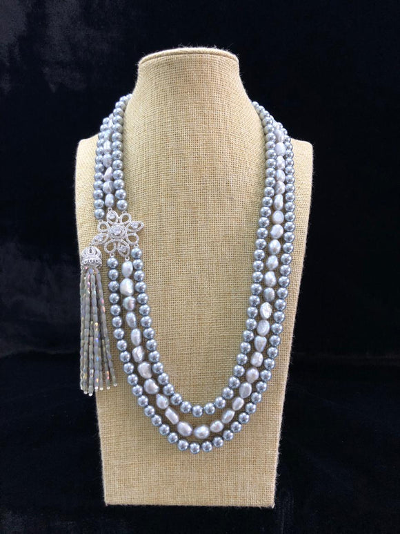 Designer Pearl Beaded Necklace-FASHION KIDA-Fashion Kida