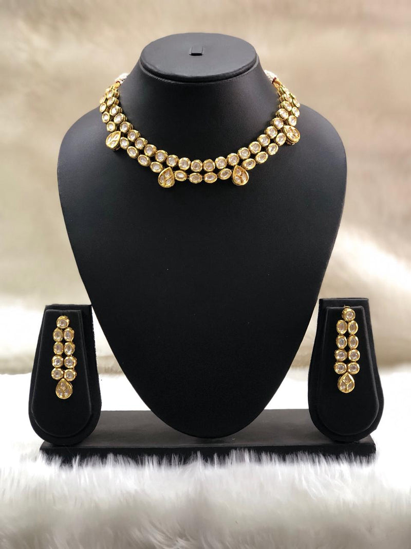 White Kundan Necklace Set-FASHION KIDA-Fashion Kida