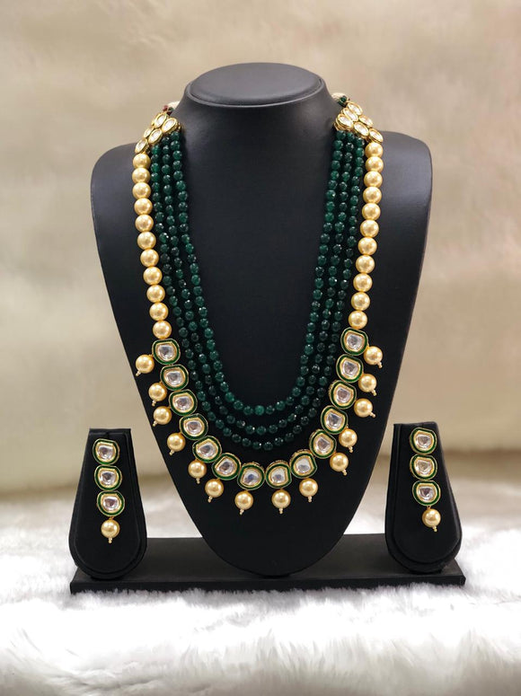 Beautiful Pearl and Kundan Necklace-set