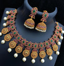 Ruby  Pearl Polki Necklace Set