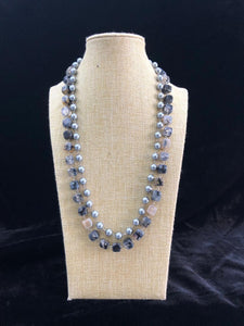 Light Shades of Black Necklace