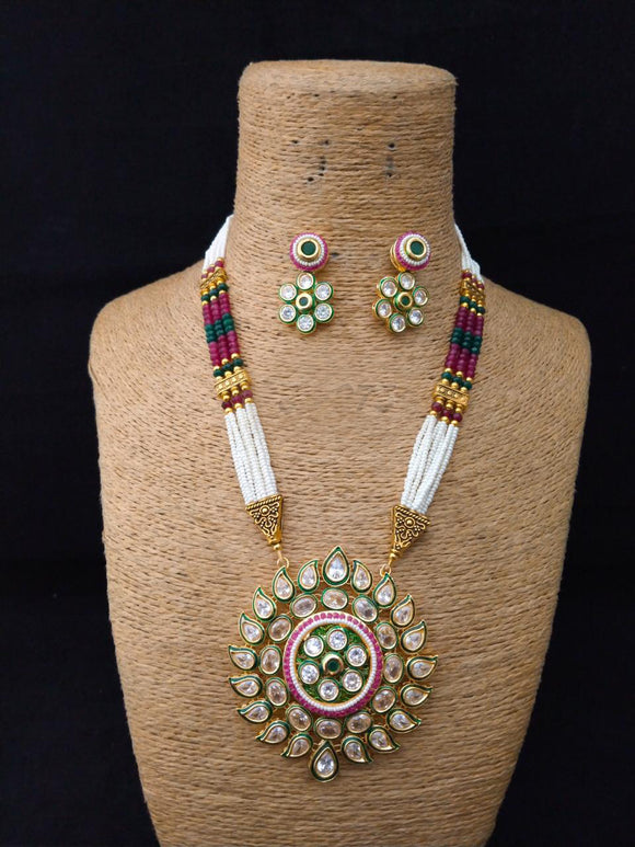 Ensemble Facinate  Kundan Necklace Set