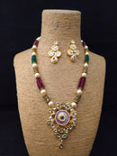 Glitz Flattered Kundan Necklace Set