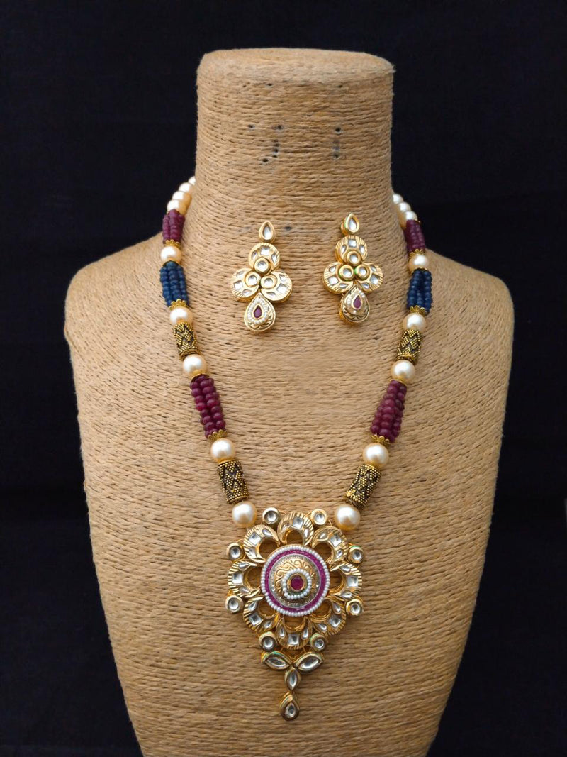 Radiance Yeilded Gorgeous Kundan Necklace Set