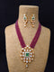 Lobster claw Kundan Necklace Set