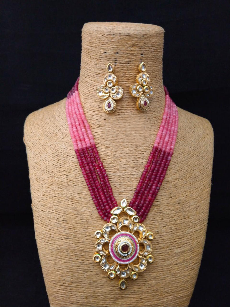 Silhouette Filltered Kundan Necklace Set