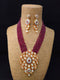 Bagatelle Heavily Kundan Necklace Set