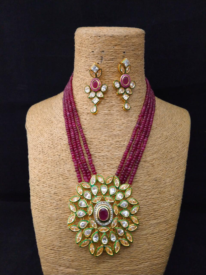 Gimcrack Richness Kundan Necklace Set