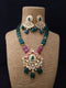 Streamling Gemstone  Kundan Necklace Set