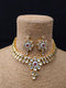 Alkalic Gillitered Kundan Necklace Set