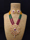 Iridescent Studded Kundan Necklace Set