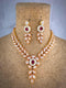 Opaque Crystline Kundan Necklace Set