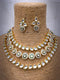 Etched Descriptive Kundan Necklace Set