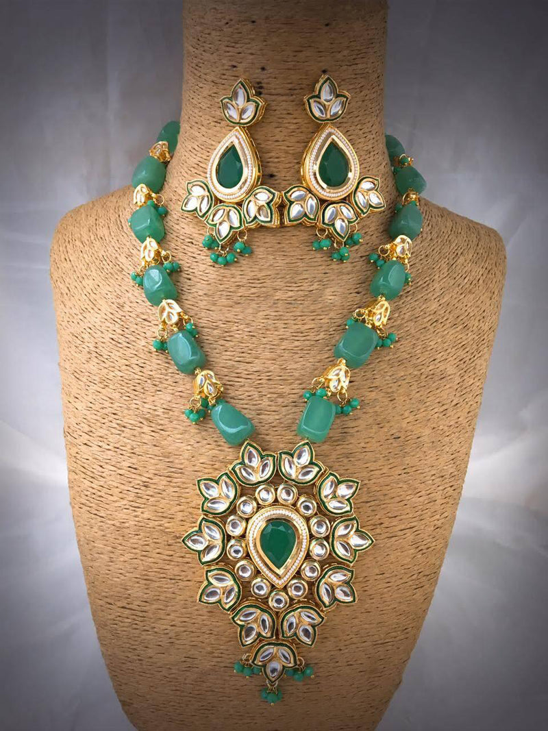 Kiln-fired Dynamic Kundan Necklace Set