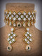 Artisanal Graving Kundan Necklace Set