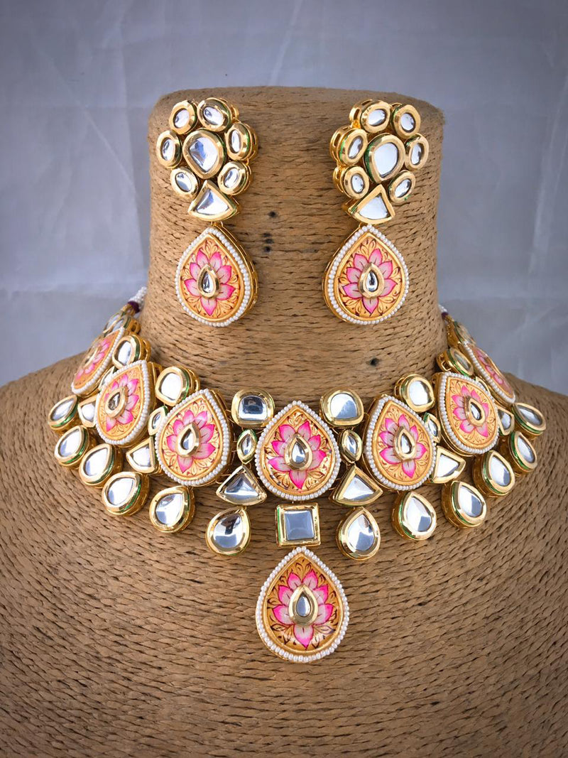 Marquise-cut Richness Kundan Necklace Set