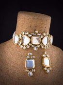 Acrylic Kundan Necklace Set