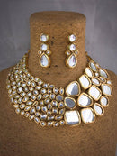 Exquisite Designer Kundan Necklace Set-Fashion Jewelley-Fashion Kida