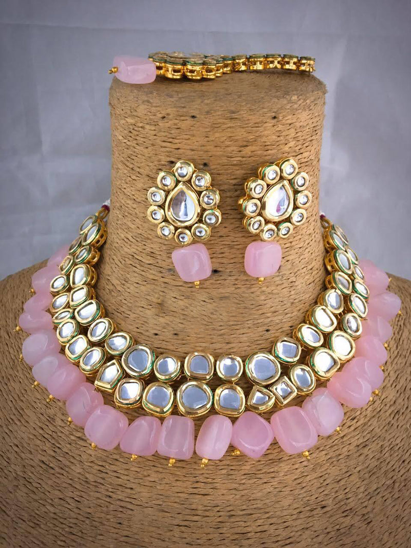 Fireworks Designer Kundan Necklace Set