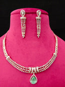 Luscious Jewel Designer Cz Necklace Set -Fashion Kida-Fashion Jewellery
