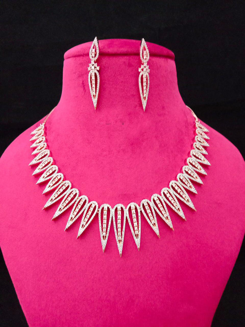 Midnight Pacific Studio Designer Cz Necklace Set -Immitation Jewellery-Fashion Kida