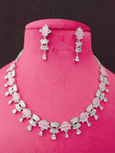 Crane Jeweler Designer Cz Necklace Set-Fashion Jewellery-Fashion Kida