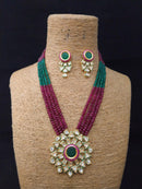 The Grand Jewel Kundan Necklace Set -Immitation Jewellery-Fashion Kida