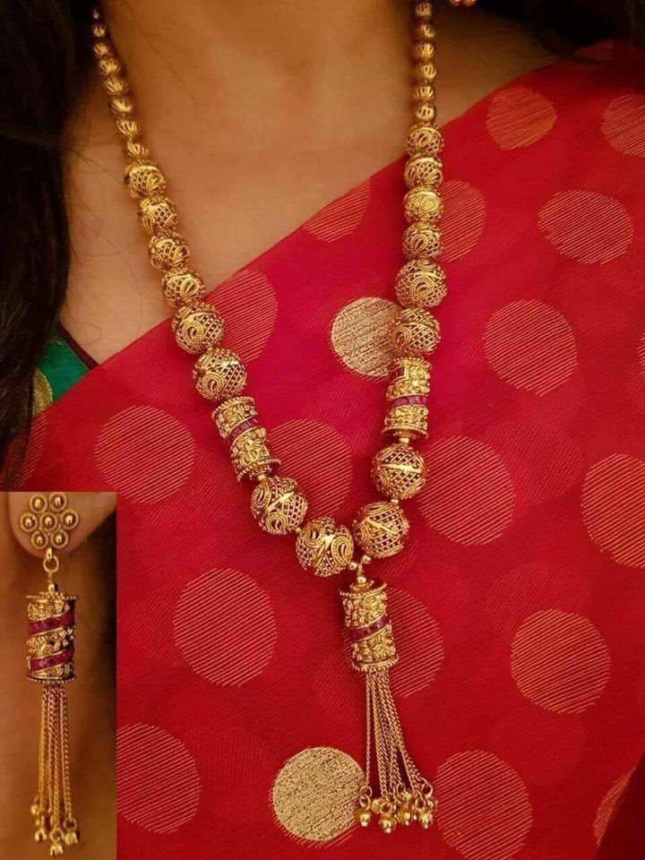Designer Gold Plated ram Necklace Set