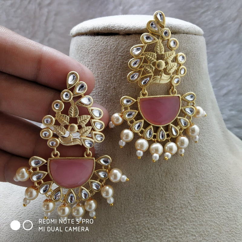 Splendid Blush Pink Gemstone & Pearl Earrings