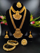 Heavy Ornate Pearl & Gold Plated Necklace Set