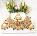 Ceremonial Multicolour Gemstone & Kundan Choker Necklace Set