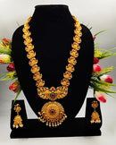 Precious Inmitable Gold Pearl & Gold Plated Necklace Set