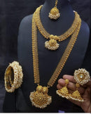 Fascinating Heavy Pearl & Gold Plated Necklace Set