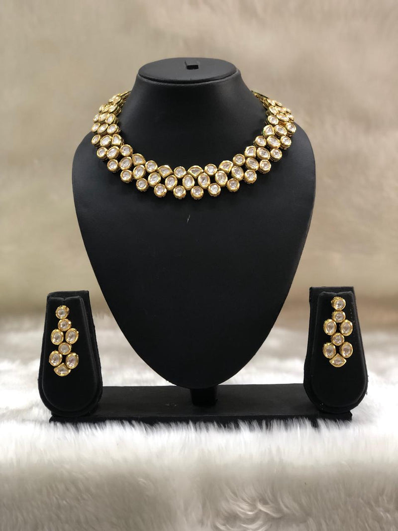 Choker Flowered Necklace Set