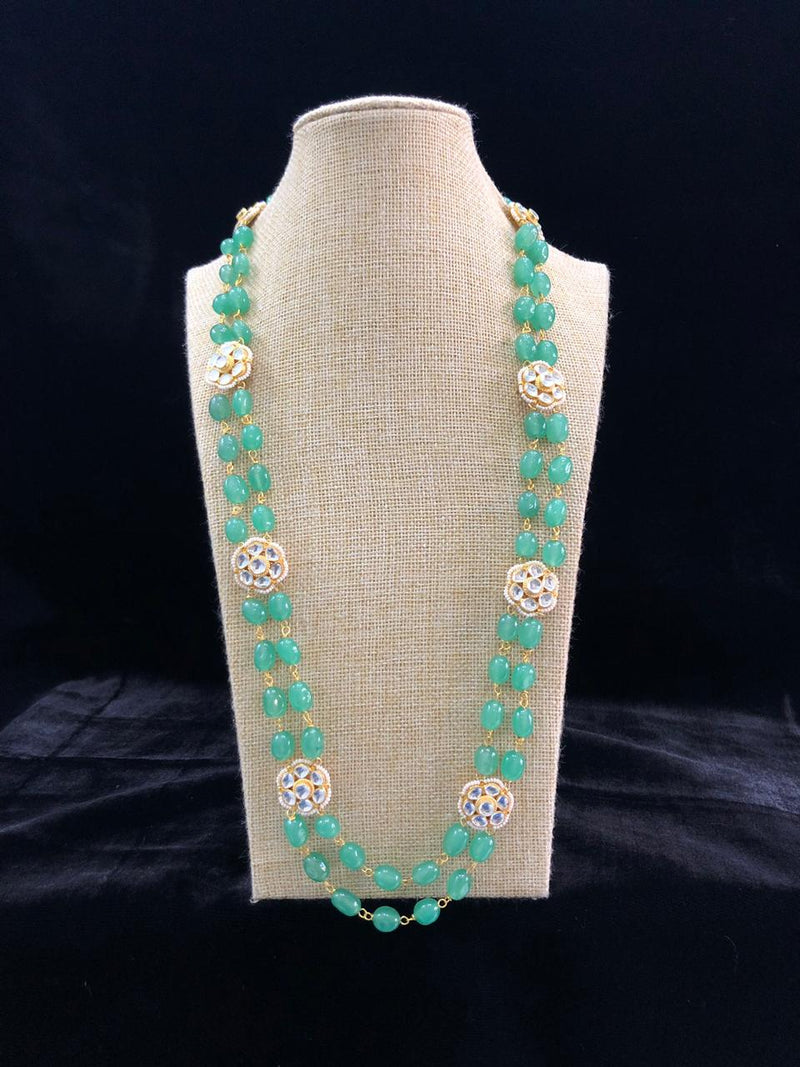 Florious Grass Green Floral Necklace