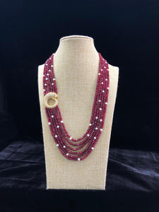 Red Side Pendant Necklace