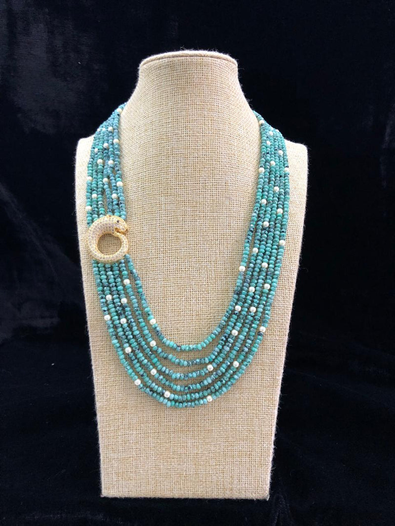 Gorgeous  Green Multilayered Necklace