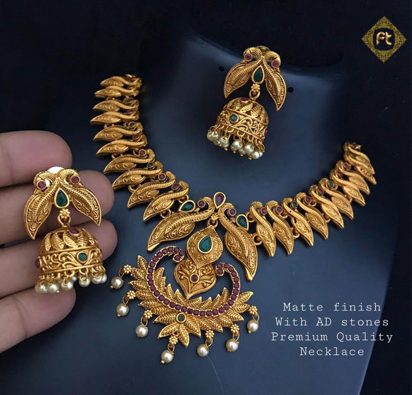 Matee Finish Kundan Necklace Set