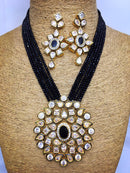 Crystal Decorative Kundan Necklace Set - Fashion Kida - Imitation Jewellery