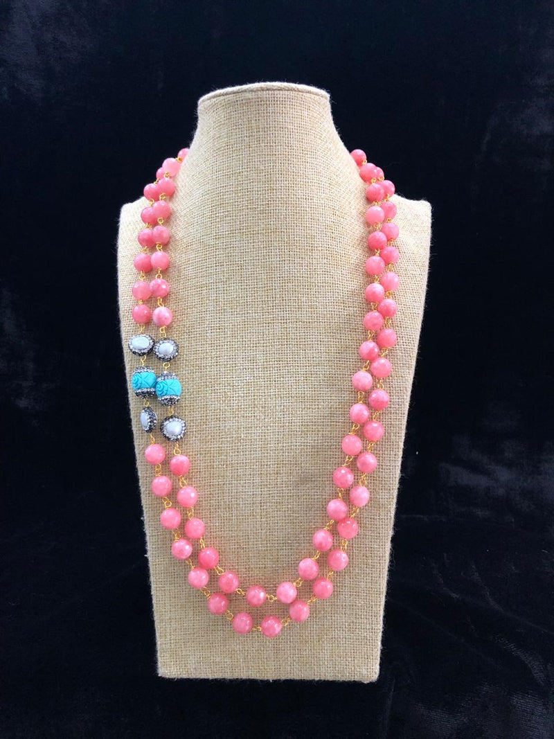 Dark Pink Decorative Designer Necklace